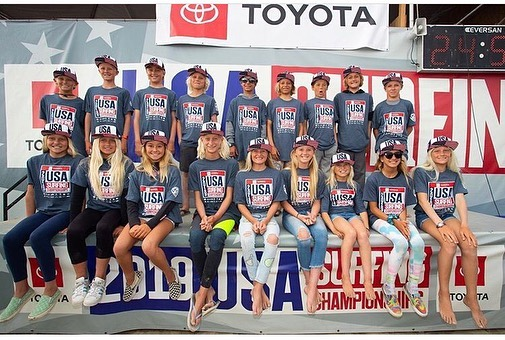 Your 2019/2020 USA Junior Surf Team and Development Surf Team. Looking forward to the @isasurfing jr's in HB. Time for some 🥇 🇺🇸