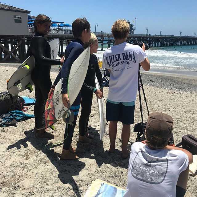 The team getting a fresh perspective from new Vert Coaches, Noah and Grant. Grateful to have such great families and young men leading the new generation of local surfers.