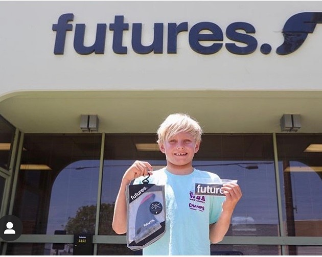 Congrats Tanner on your accomplishments. The best fin system to support the best groms. @tanner_sandvig @futuresfins