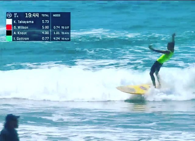 Tune into the @vansducttape to watch Vert Coach @gato_son surf his heat. Let's go Gato!