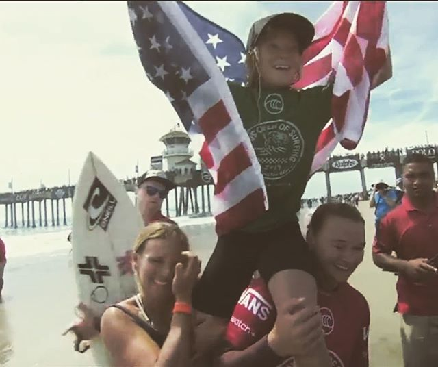 Unreal surfing from all the @usasurfing girls. Congrats Caity girl.
