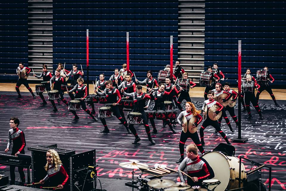 INov8 Winter Percussion performs its 2018 production Time Bomb at the Dayton Regional on February 17th and 18th, 2018.