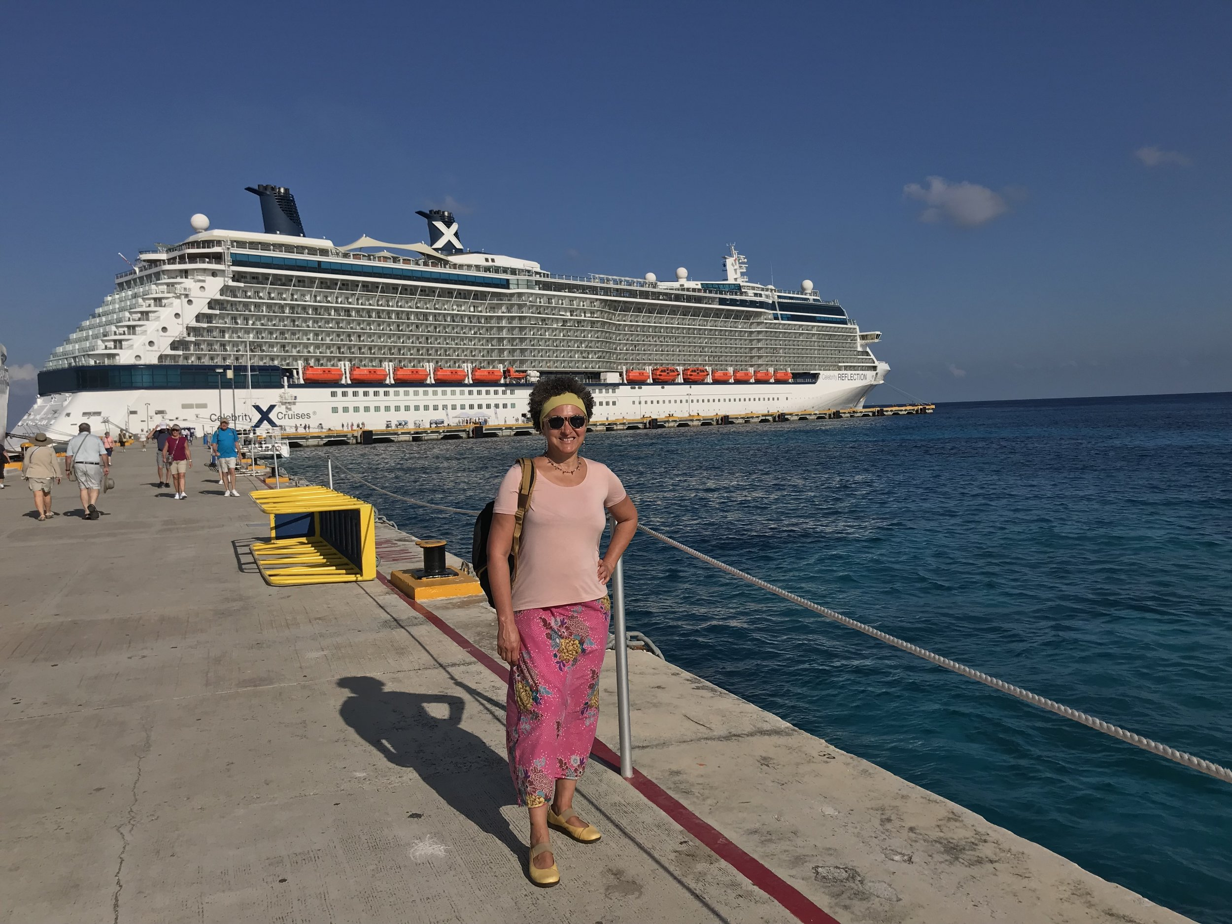 The author, in the port of call of Cozumel, Mexico.