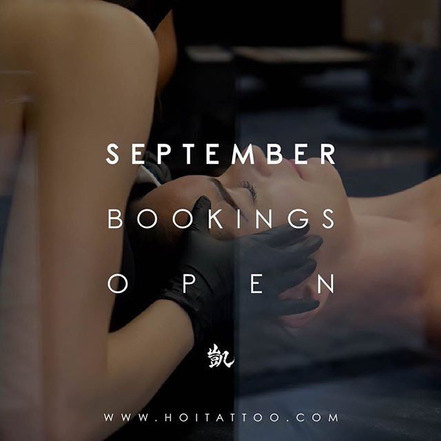 SEPTEMBER BOOKS OPEN in 3 Days! . . 🏮Monday July 1 @ 12:00 PM 🏮 . . All new bookings — WWW.HOITATTOO.COM . . #hoitattoo #yycbrows #nanobrows #microblading #freckles #combobrows #eaatvillageyyc