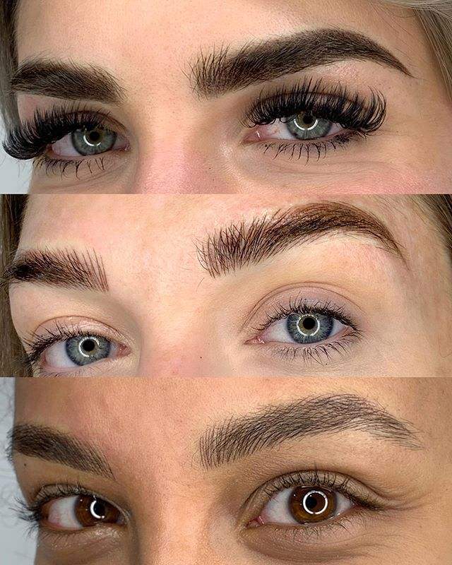 "All of these are ""Nano Brows"" 😊 Which is your Favourite Style? Comment Below👇🏻 . Top: Powder Ombré  Middle: Nano Combination  Bottom: Nano Hairstokes . . All three techniques were done with Nano technology! With the technological advancements in permanent makeup over the last 5 years, artists now have the tools to CREATE THEIR ART freely. . . Can't wait to show y'all all these techniques at our upcoming Amiea Masterclass August 20-23! Who's coming?! . . #hoitattoo #amieamasterclass2019 #nanobrows #powderombre #combobrows"