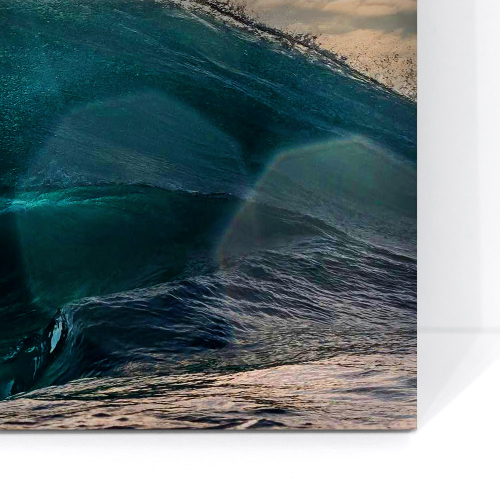Acrylic - AcrylicEach print is mounted behind museum grade acrylic (plexiglass) which is 98% UV resistant and has beautiful clarity. This results in a high gloss finish that gives the image a 'wet' look and brings out colours.
