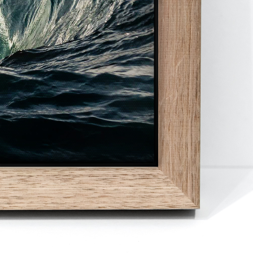 Box Framed Canvas - Canvas Box MountEach canvas is framed in premium timber. Available in Tasmanian Oak, Matt Black and Matt White.