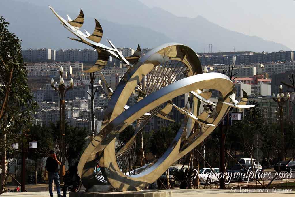 stainless steel sculpture