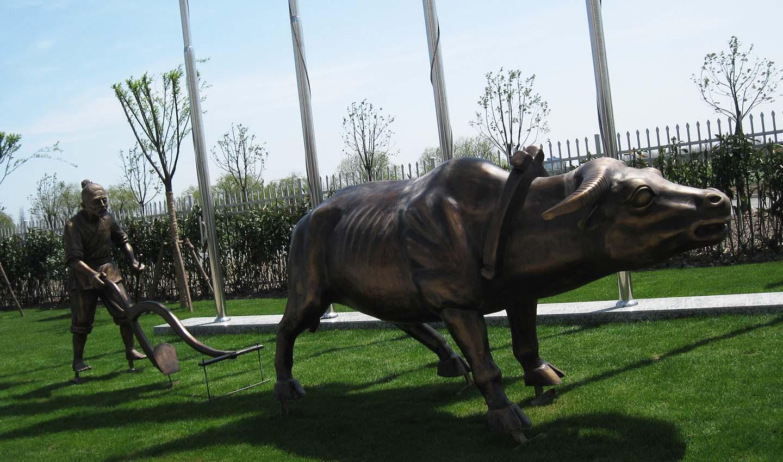 Cultivation - Life size fiberglass statue for park decoration
