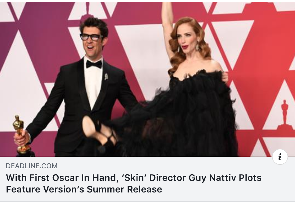 An absolute honour to work with this dynamic duo on the full length feature version of Skin, which hits theaters nationwide in July!