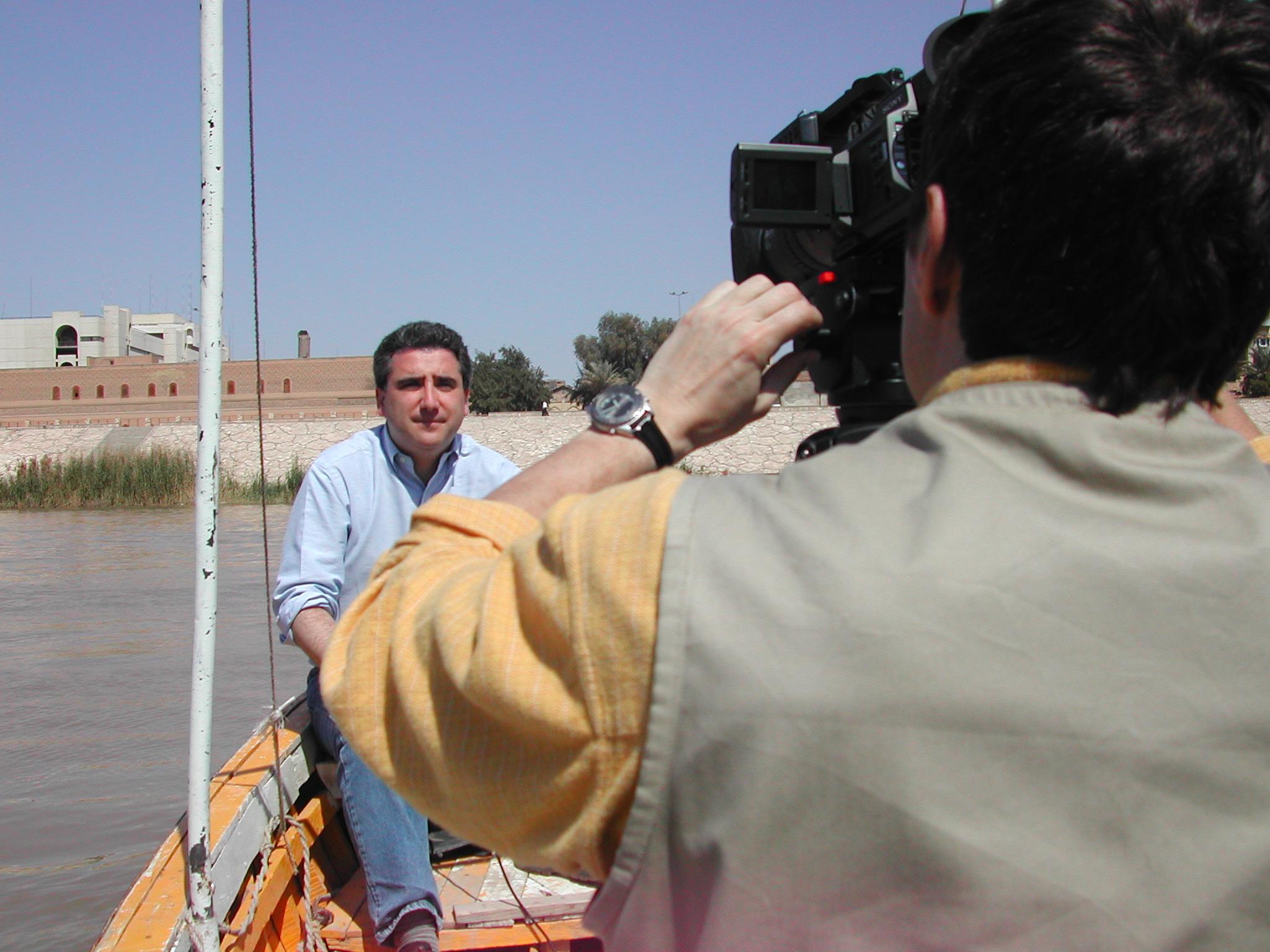 Simon Standup in Baghdad.JPG