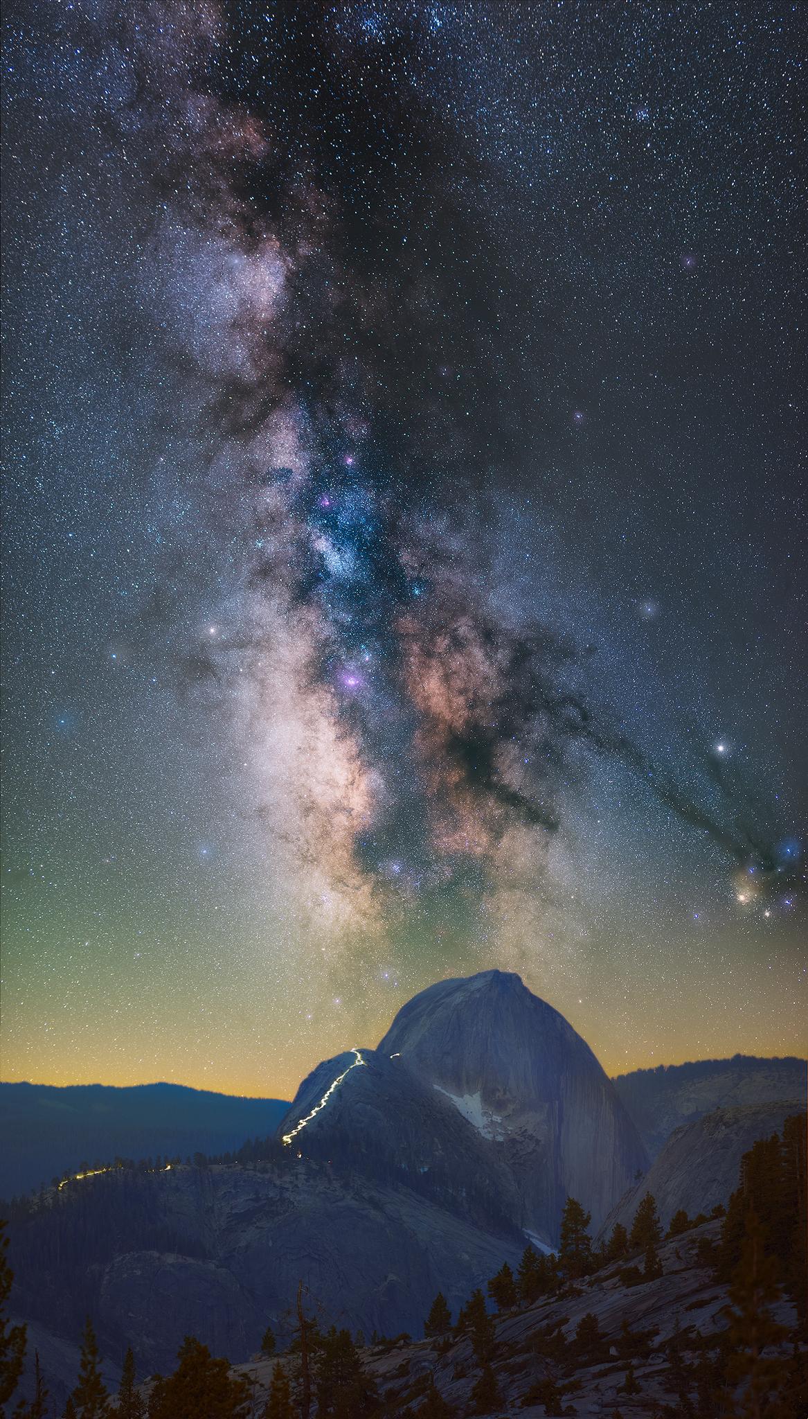 Milky way Hiker