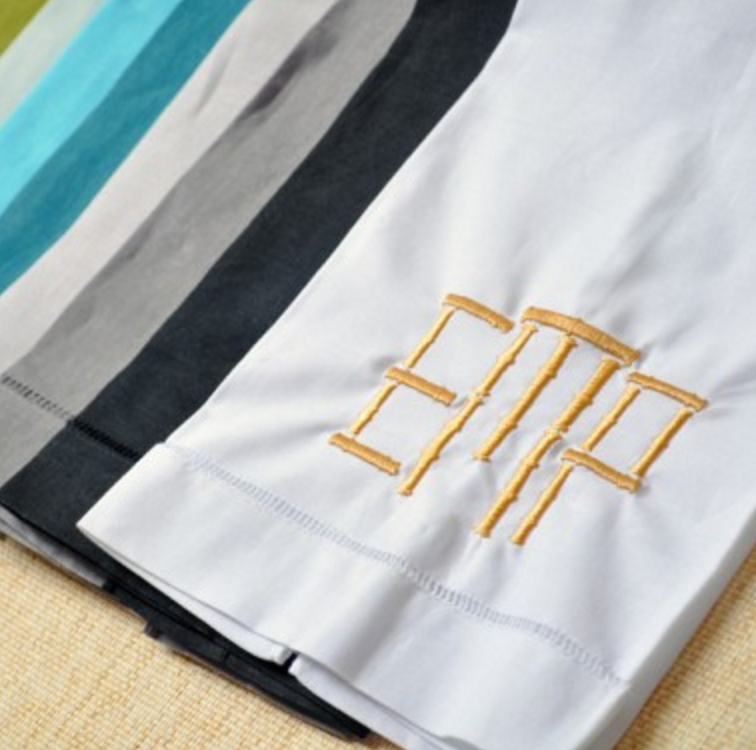 Make your guests feel welcome with these monogrammed Powder Room linen towels.
