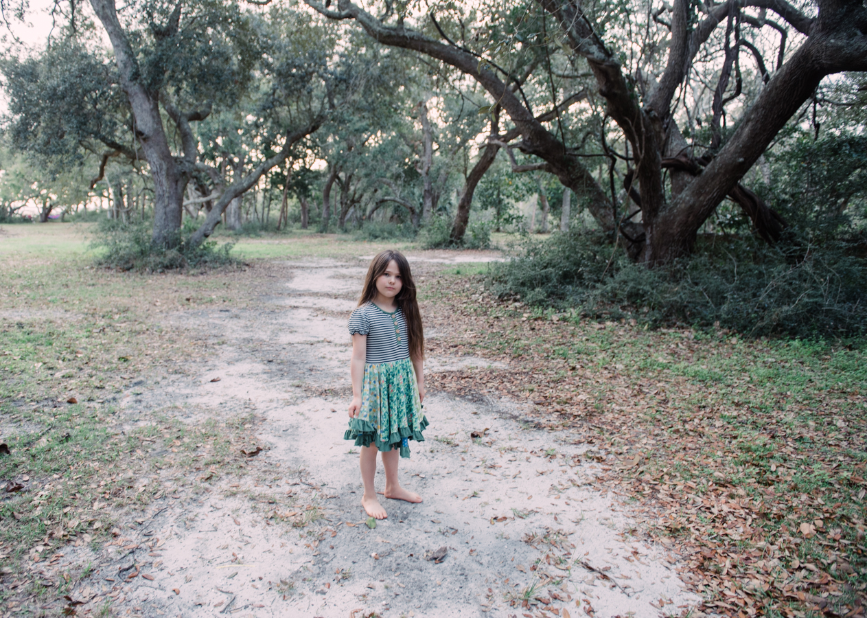 girl in woods-child photographer-pensacola