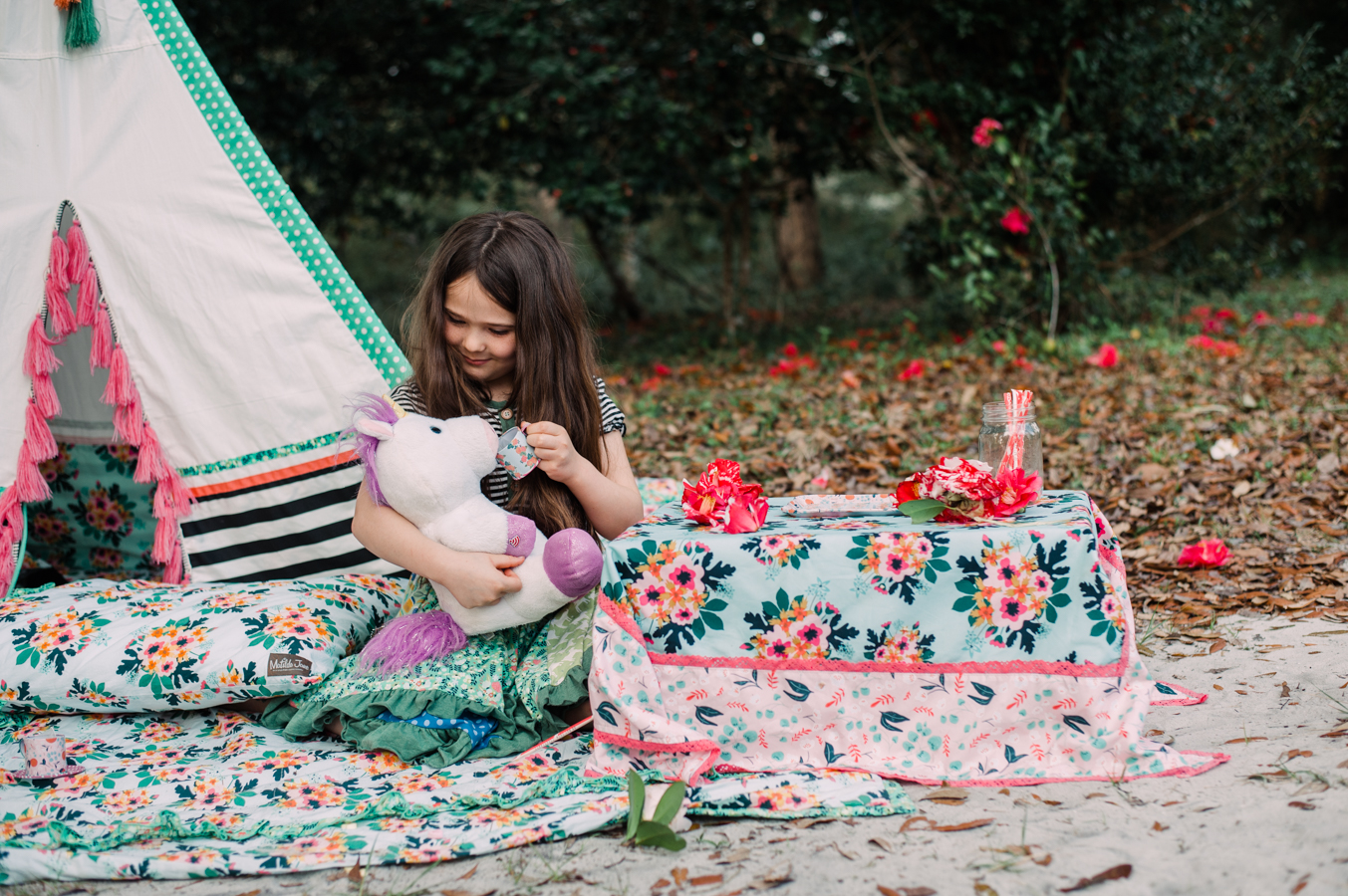 girl with tea cup-pensacola child photographer