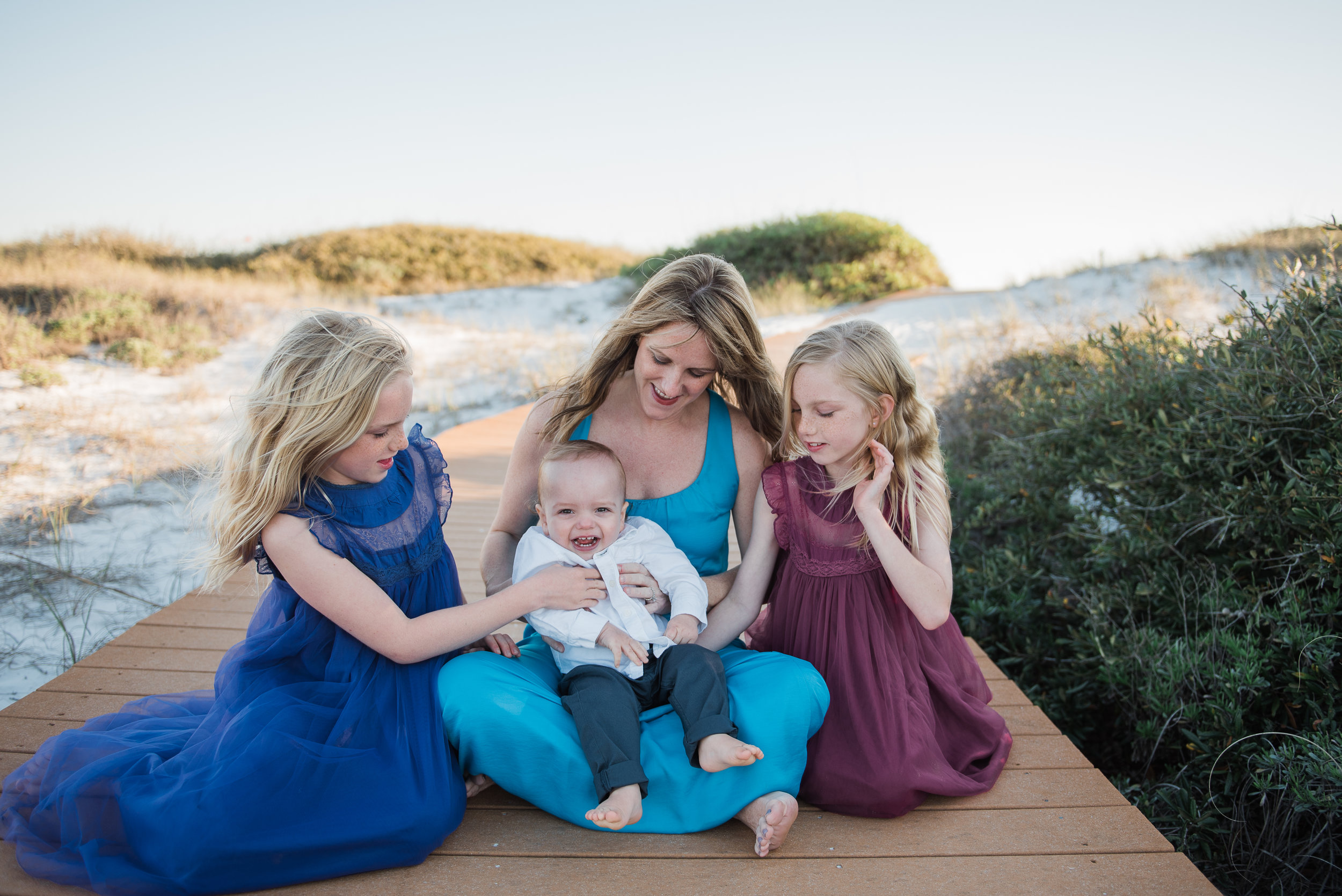 three girls tickling baby-pensacola child photographer