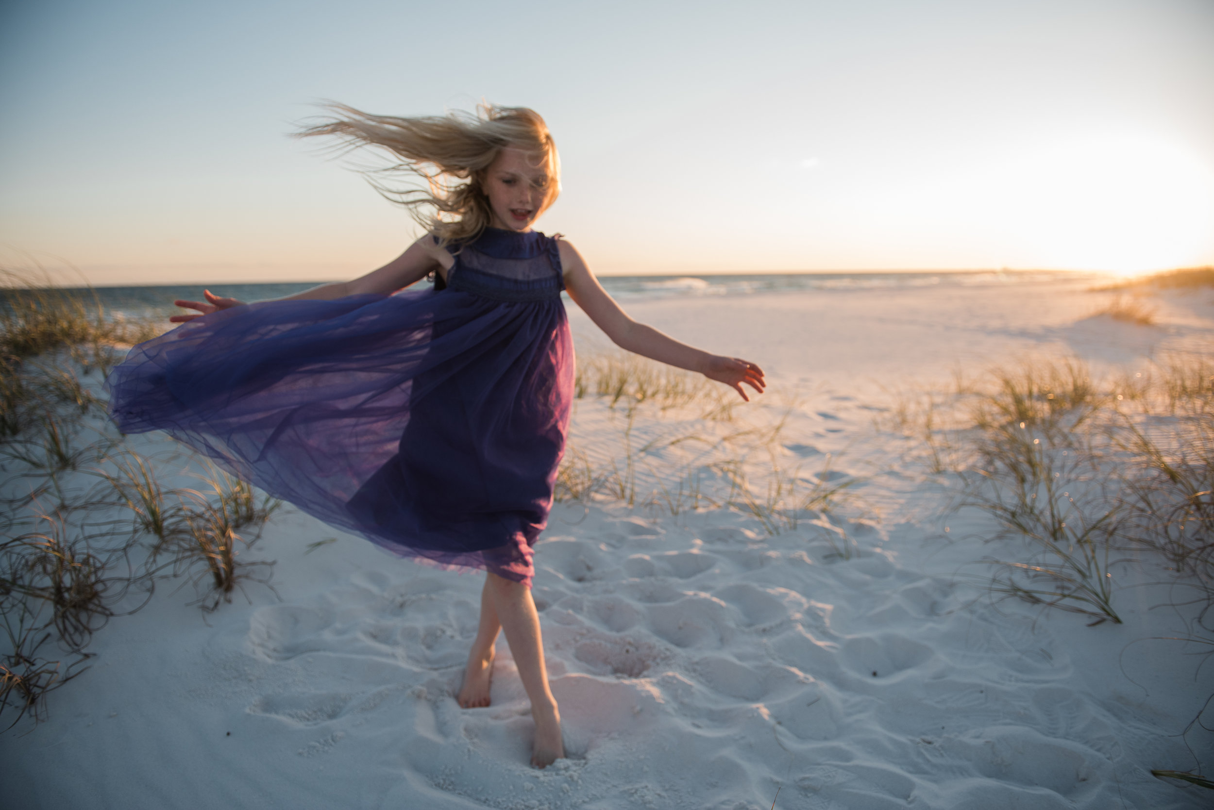 running girl-pensacola beach family photographer