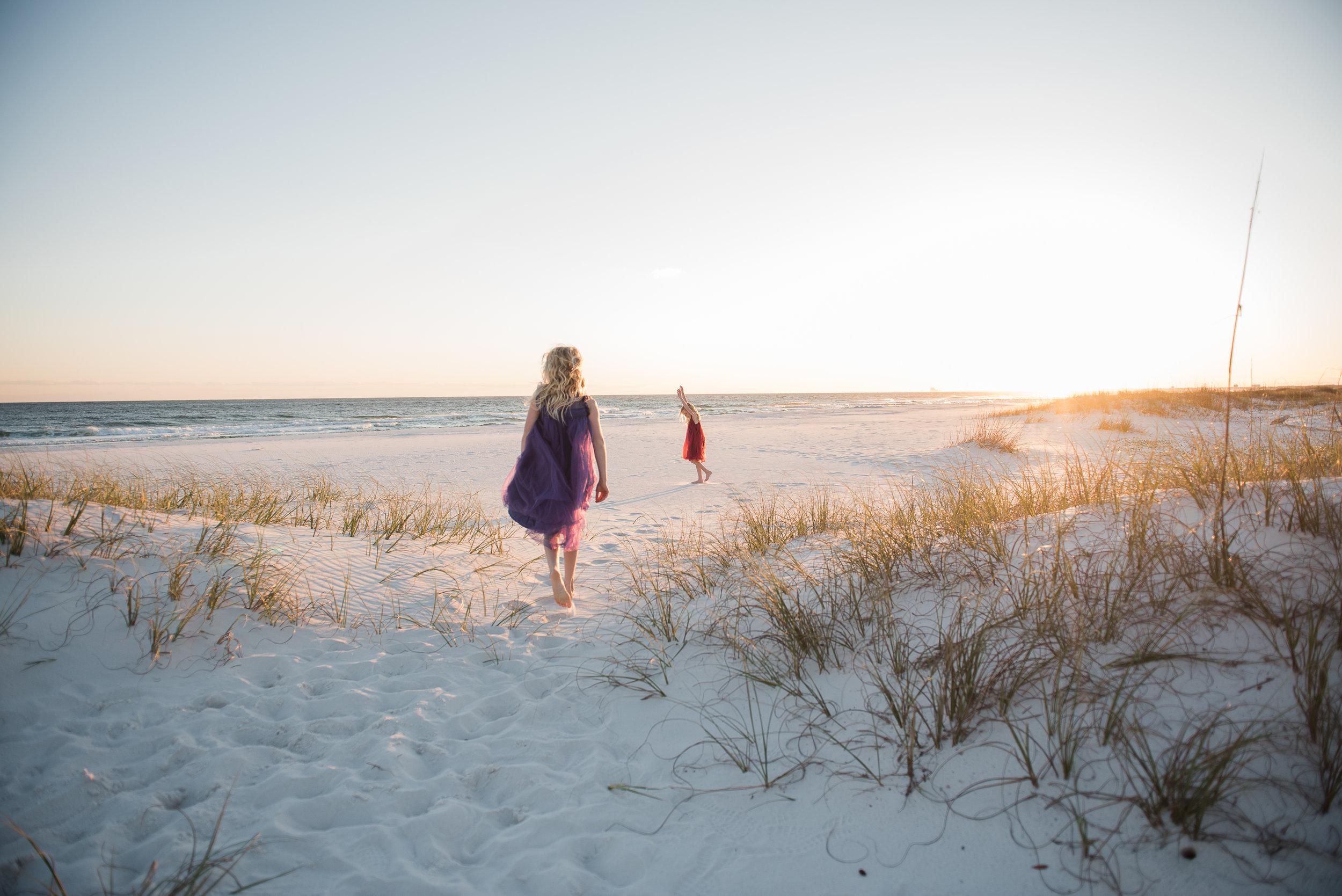 girls in sand-pensacola family photographer