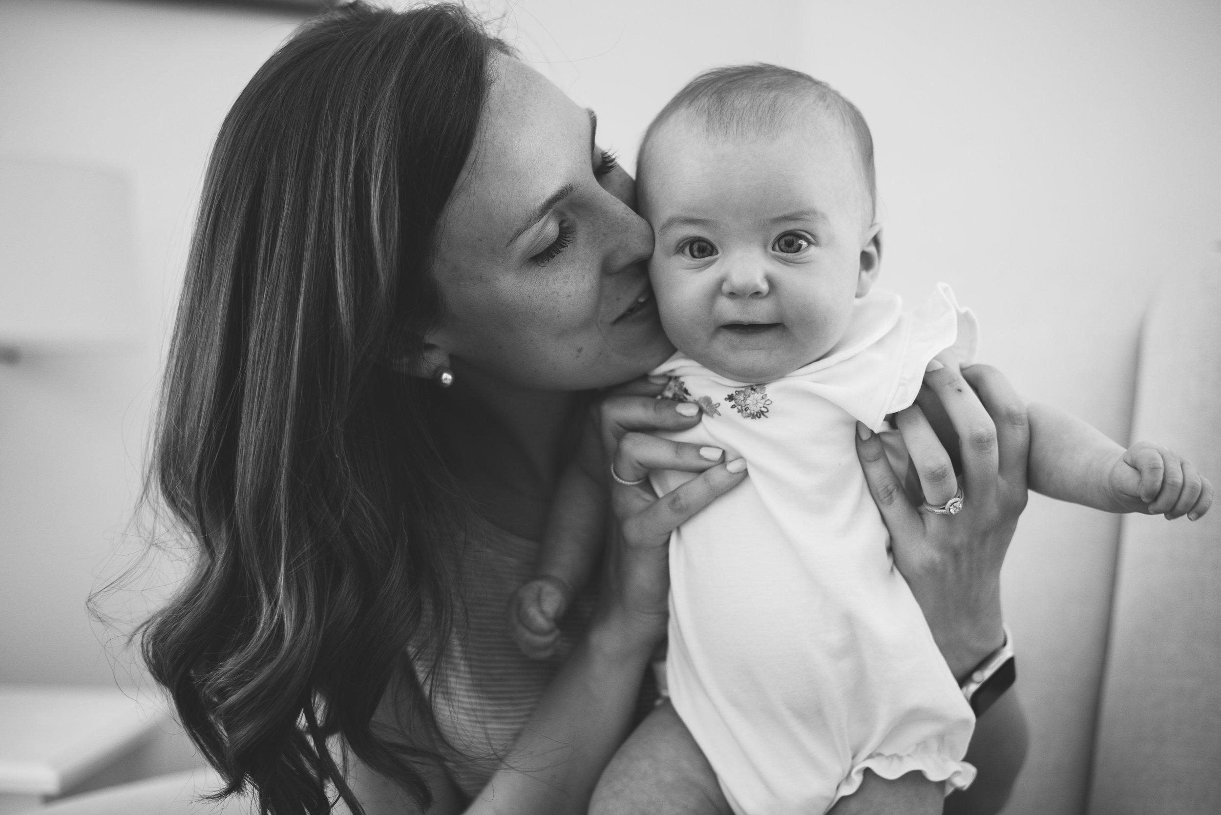 mom kissing baby-Pensacola baby Photographer