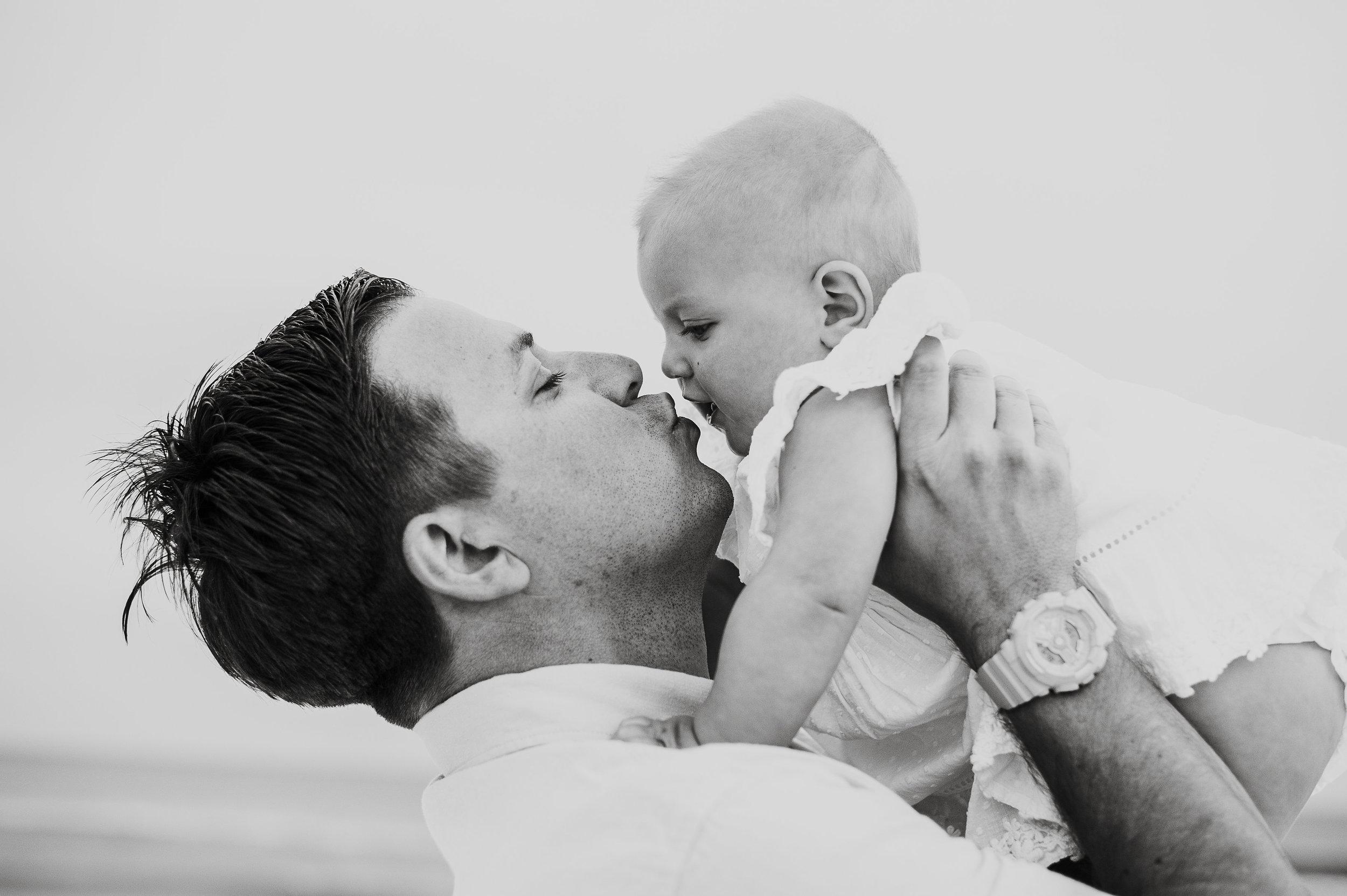 dad and baby-Pensacola Beach Photographer