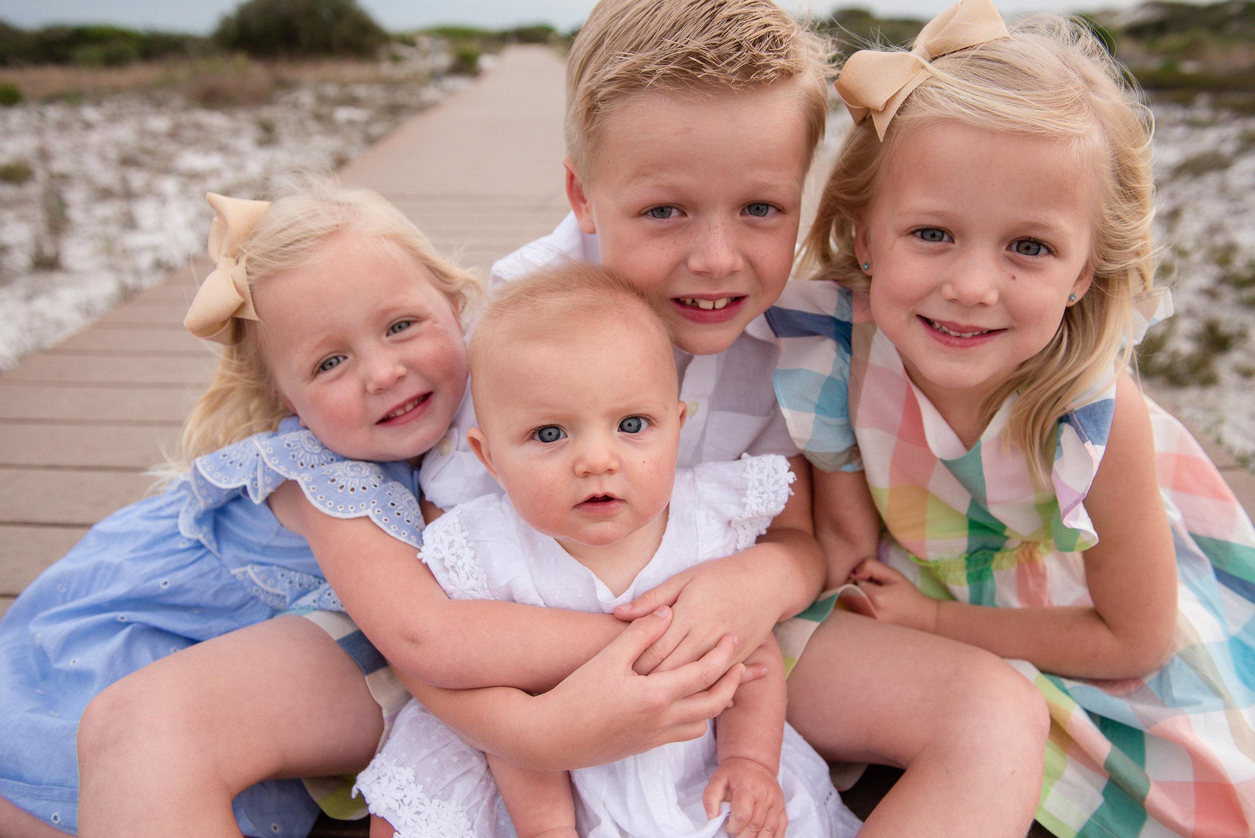 kids together-Pensacola Beach Photographer
