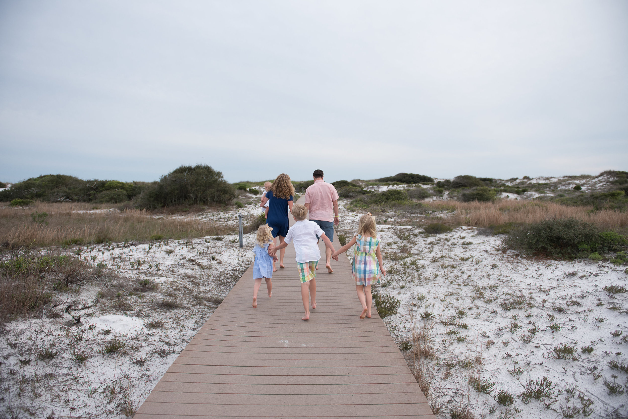 family walking-pensacola beach photographer