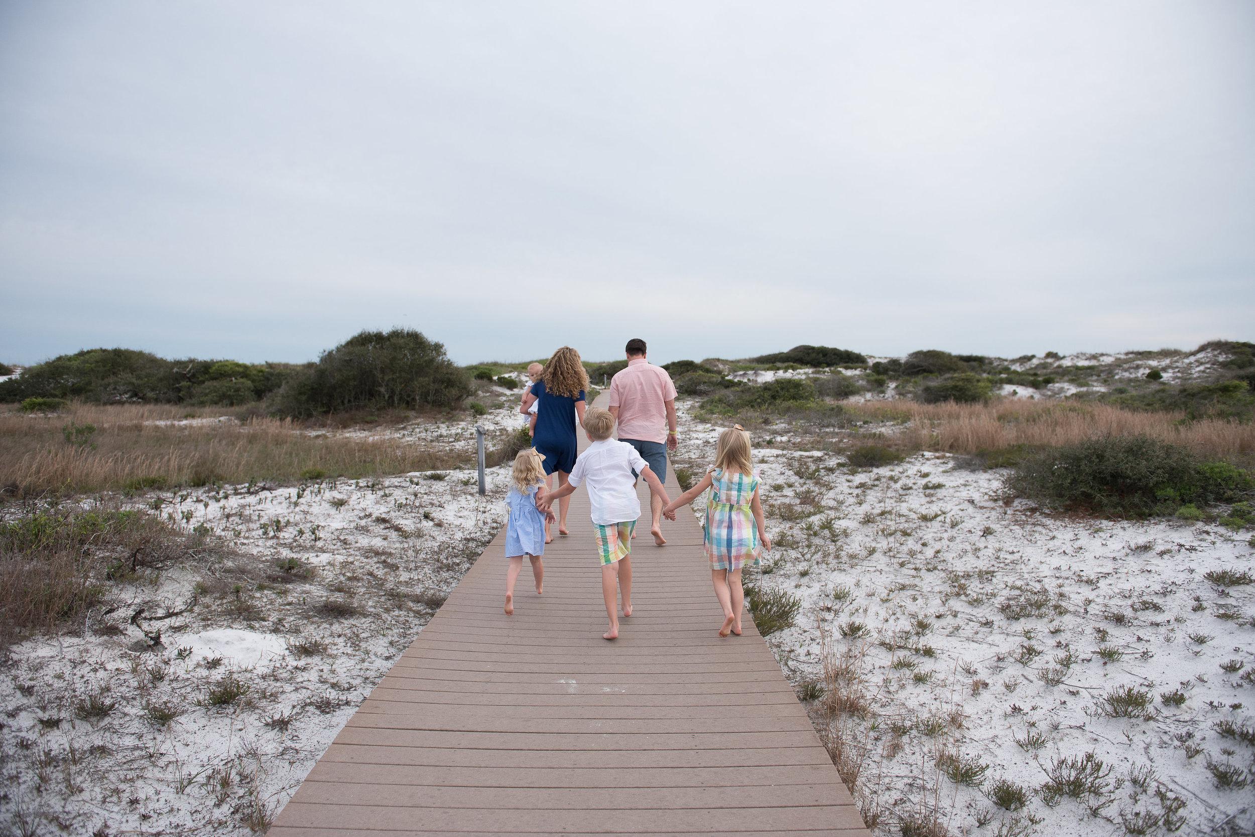 family walking-pensacola beach photographer
