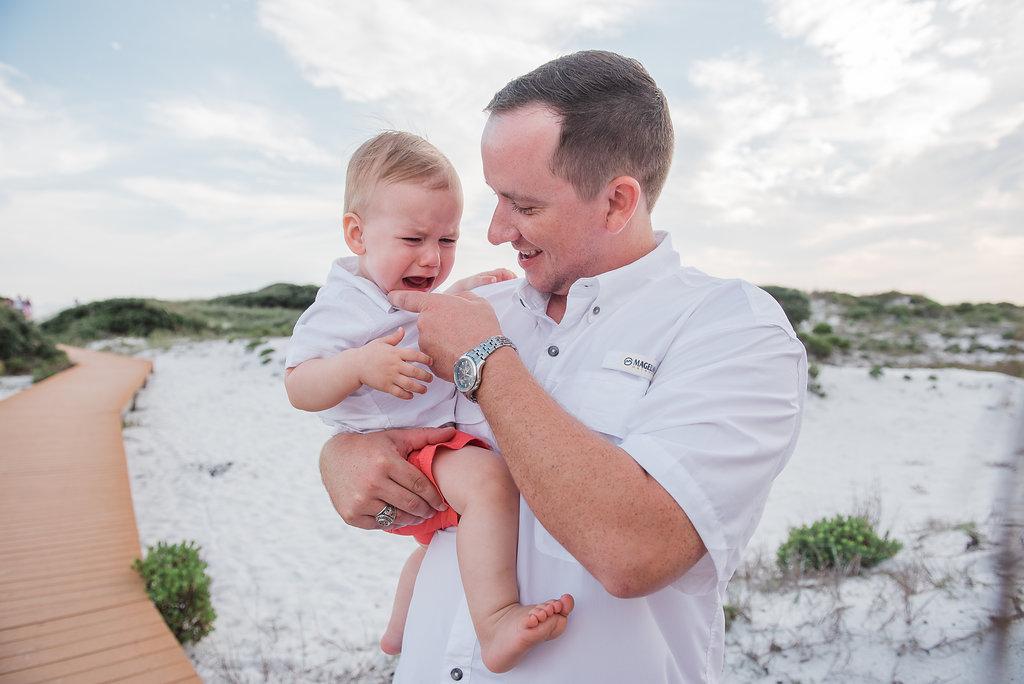 dad and son-Pensacola beach photographer