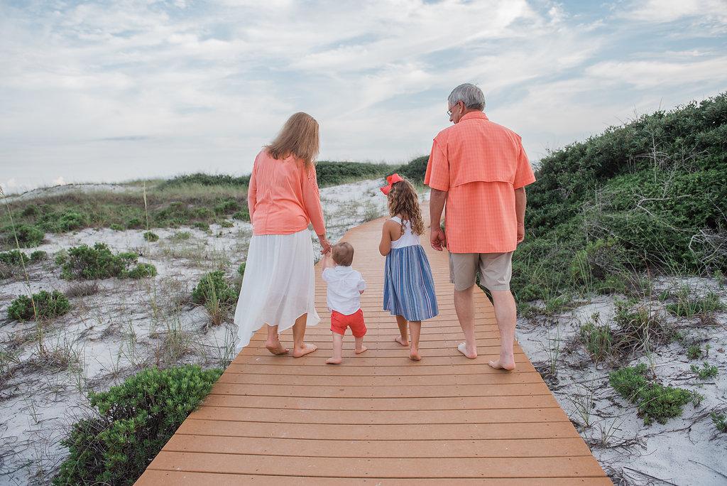 walking with the grandkids-Pensacola Beach photographer