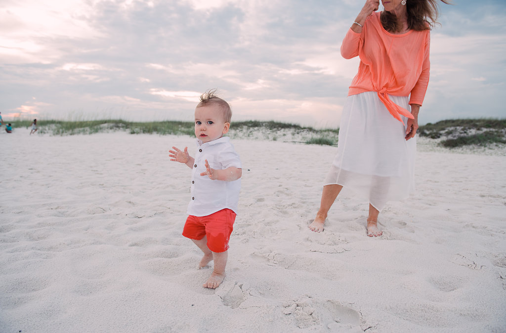 baby in sand-pensacola photographer