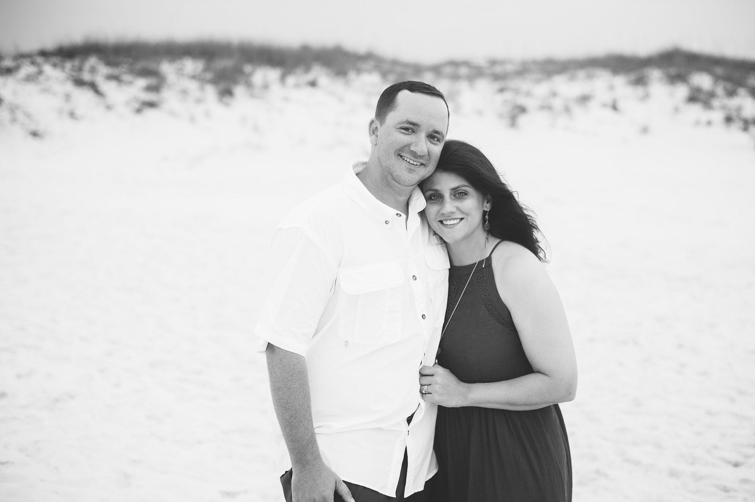 couple at beach-pensacola photographer