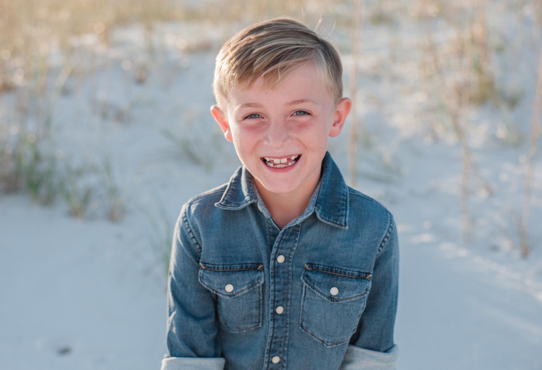 boy at beach-Pensacola family photographer