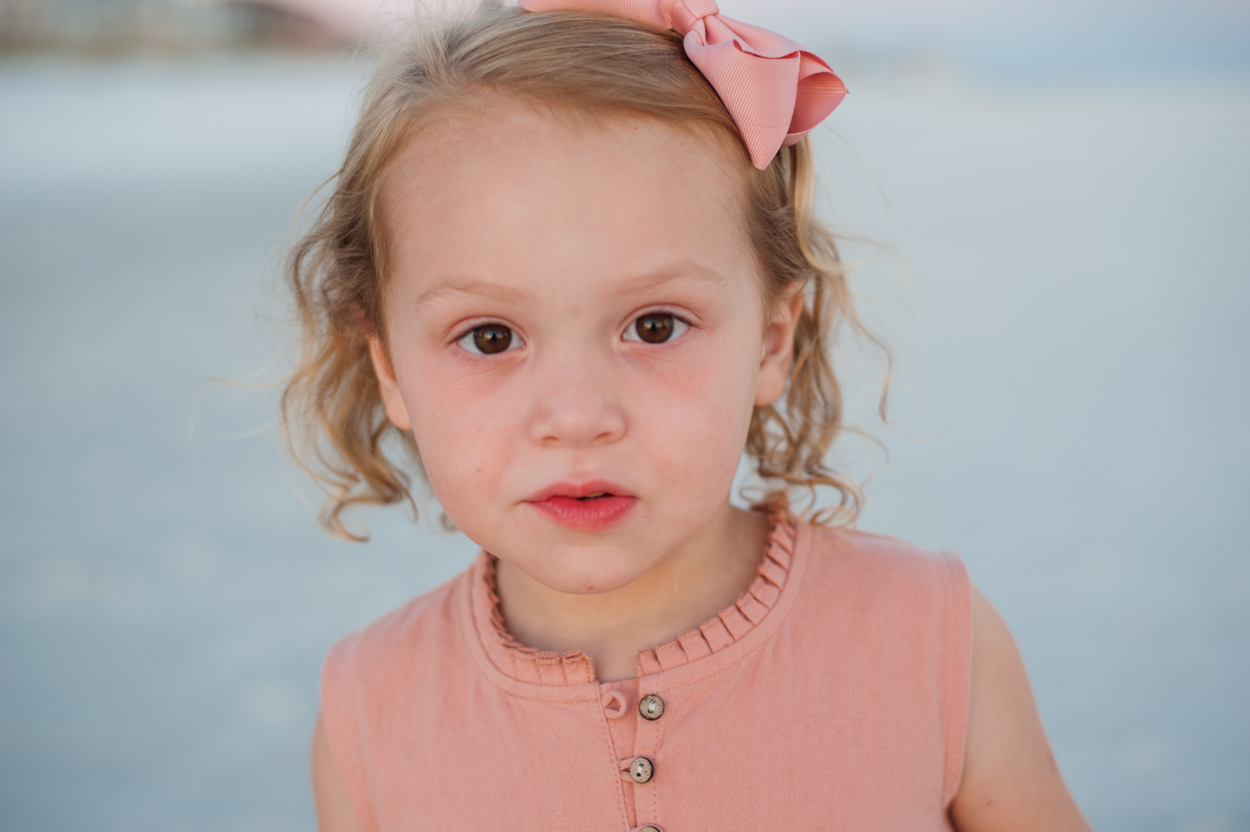 girl at beach-Pensacola Family Photographer