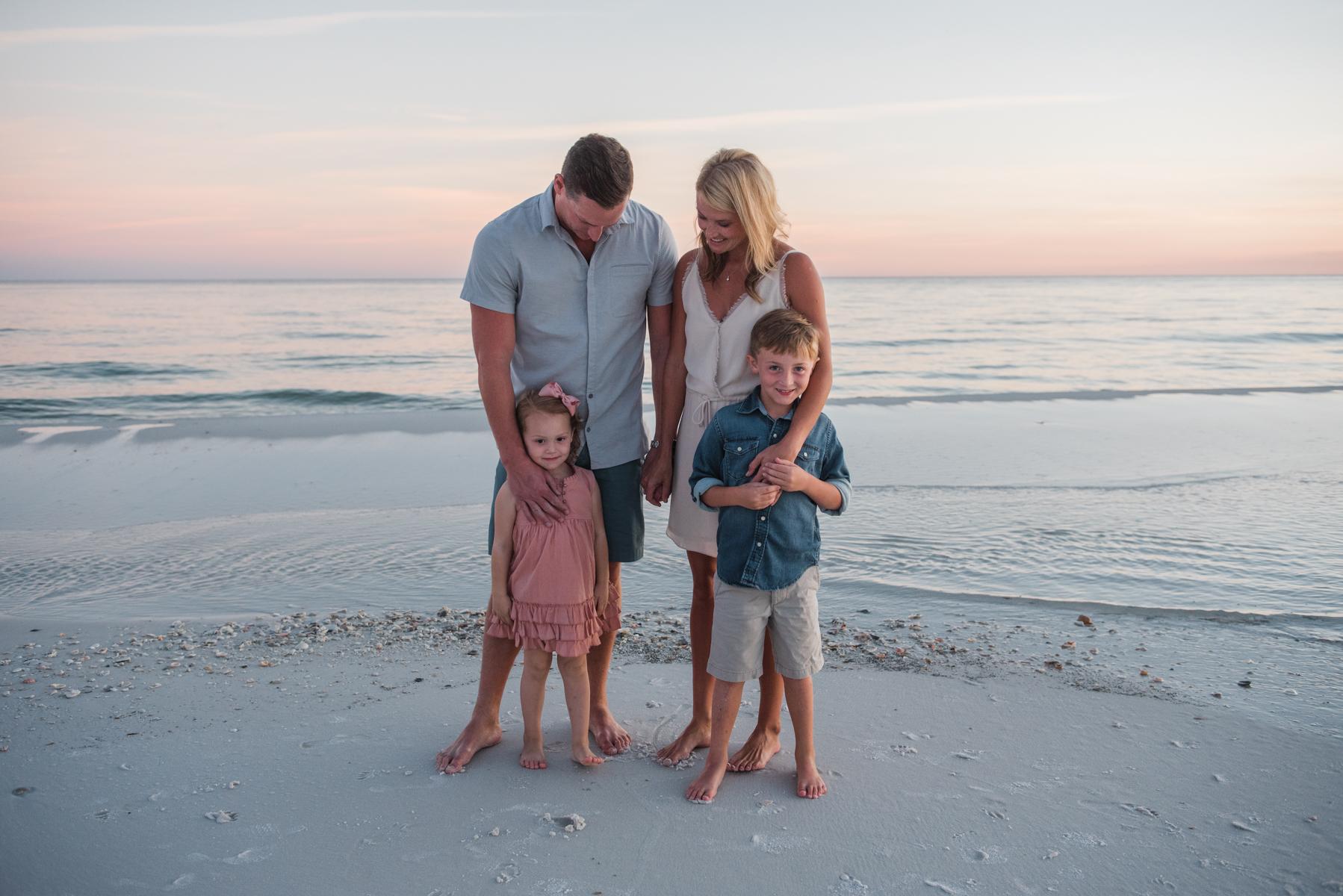 family at ocean-pensacola family photographer