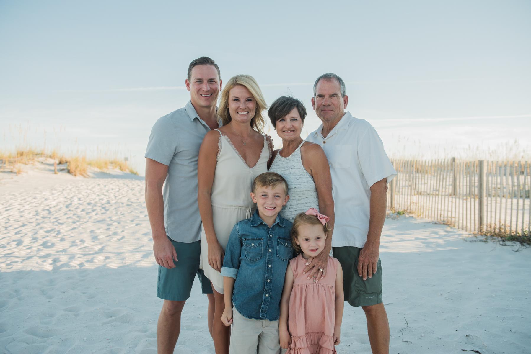 extended family at beach-Pensacola beach family photographer