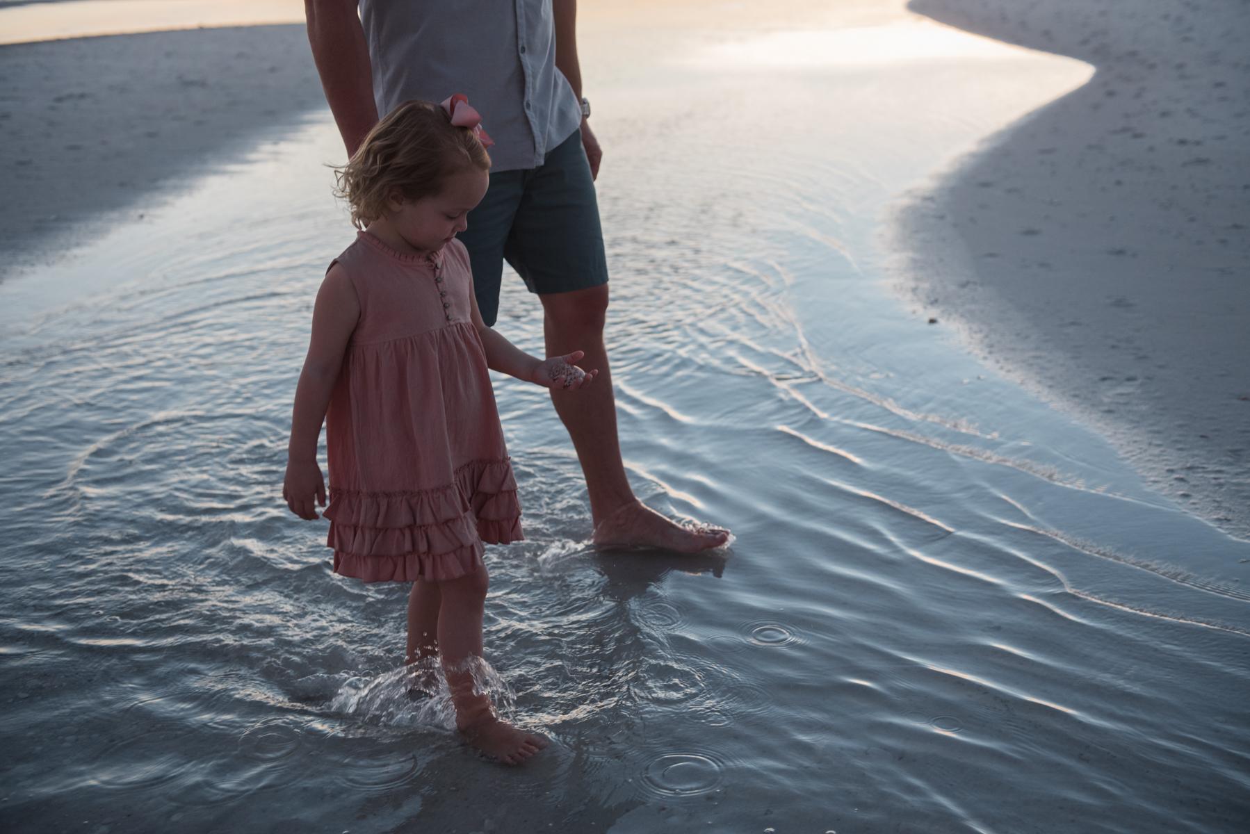girl in tide pool-Pensacola Family Photographer