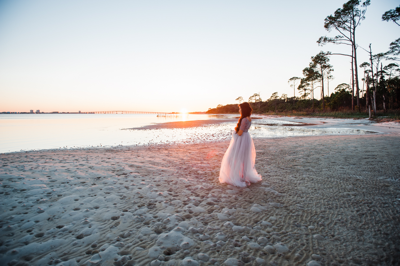 lady by ocean-pensacola family photographer