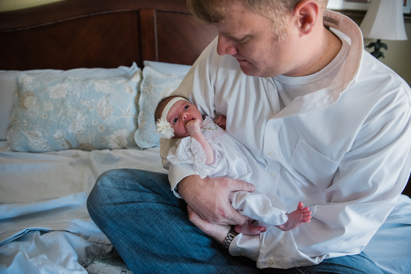 dad with baby-pensacola baby photographer