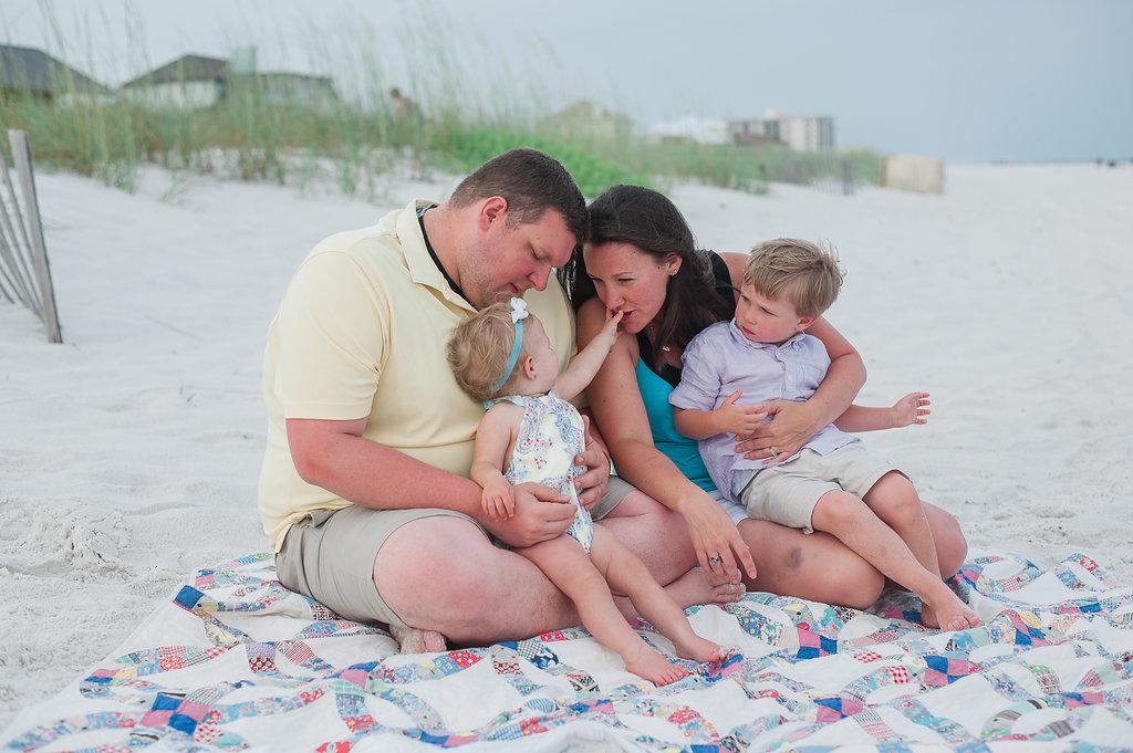 family on beach-Pensacola Beach Family Photographer