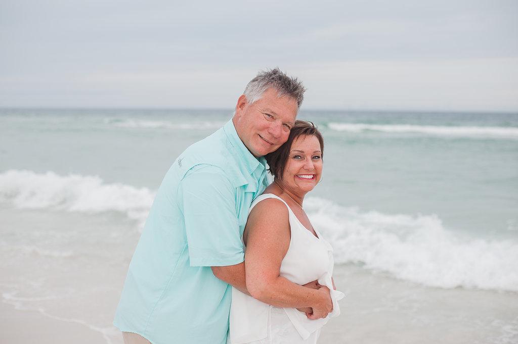 couple at beach-Pensacola Beach Family Photographer