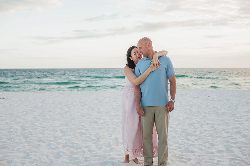 couple by beach-penscola beach photographer-Ann Mangum photography