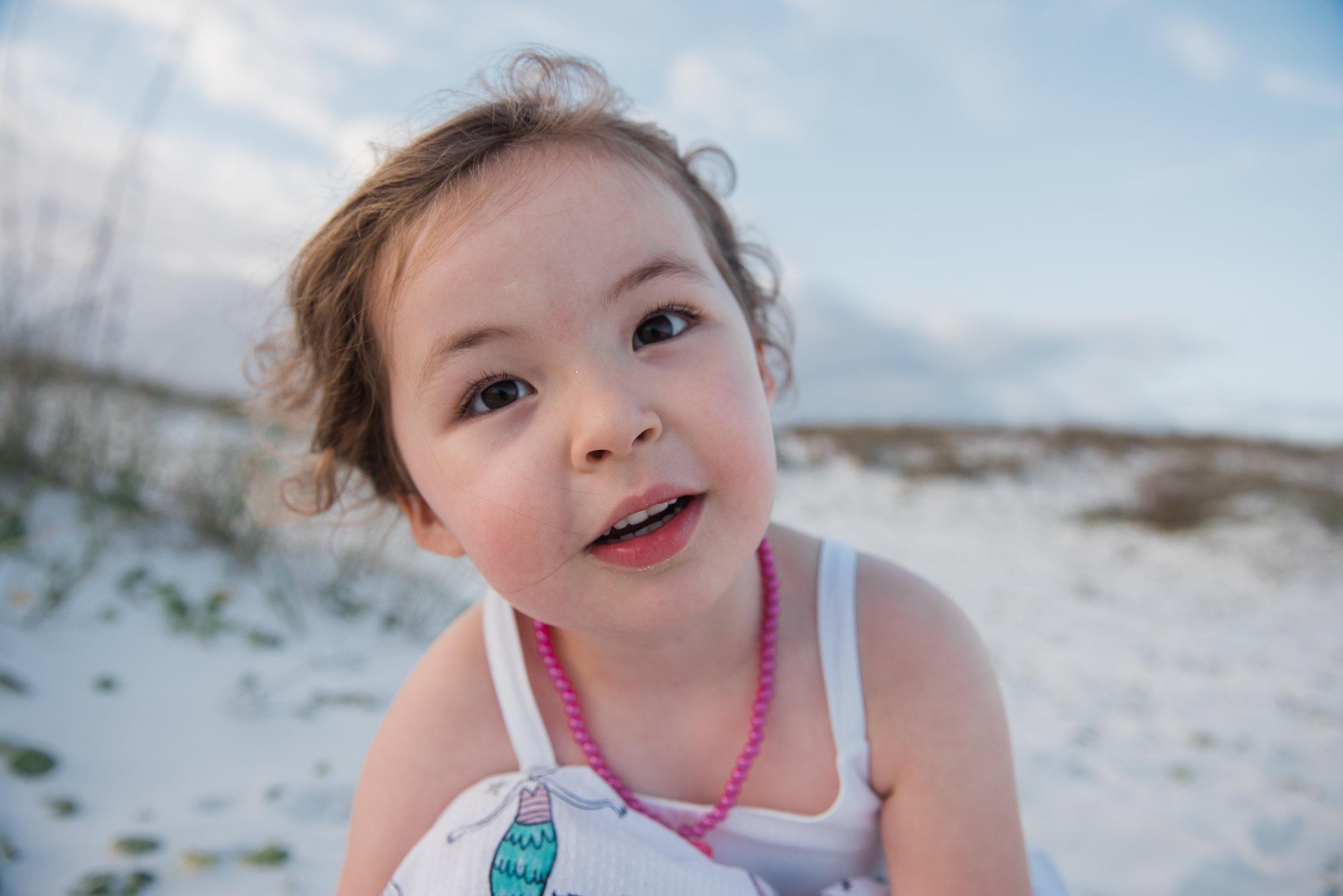 girl at beach-pensacola beach photographer