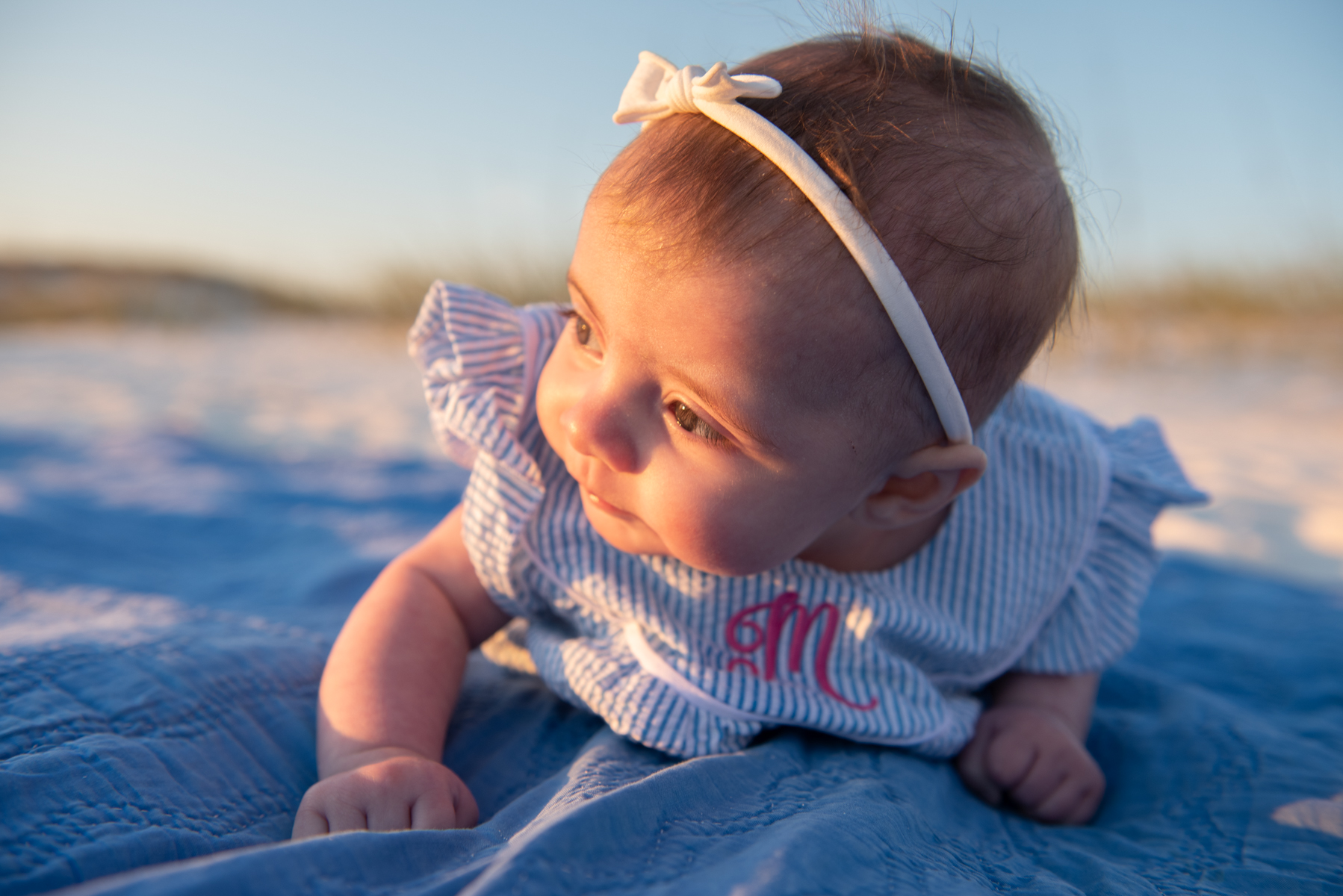 baby at beach-pensacola family photographer