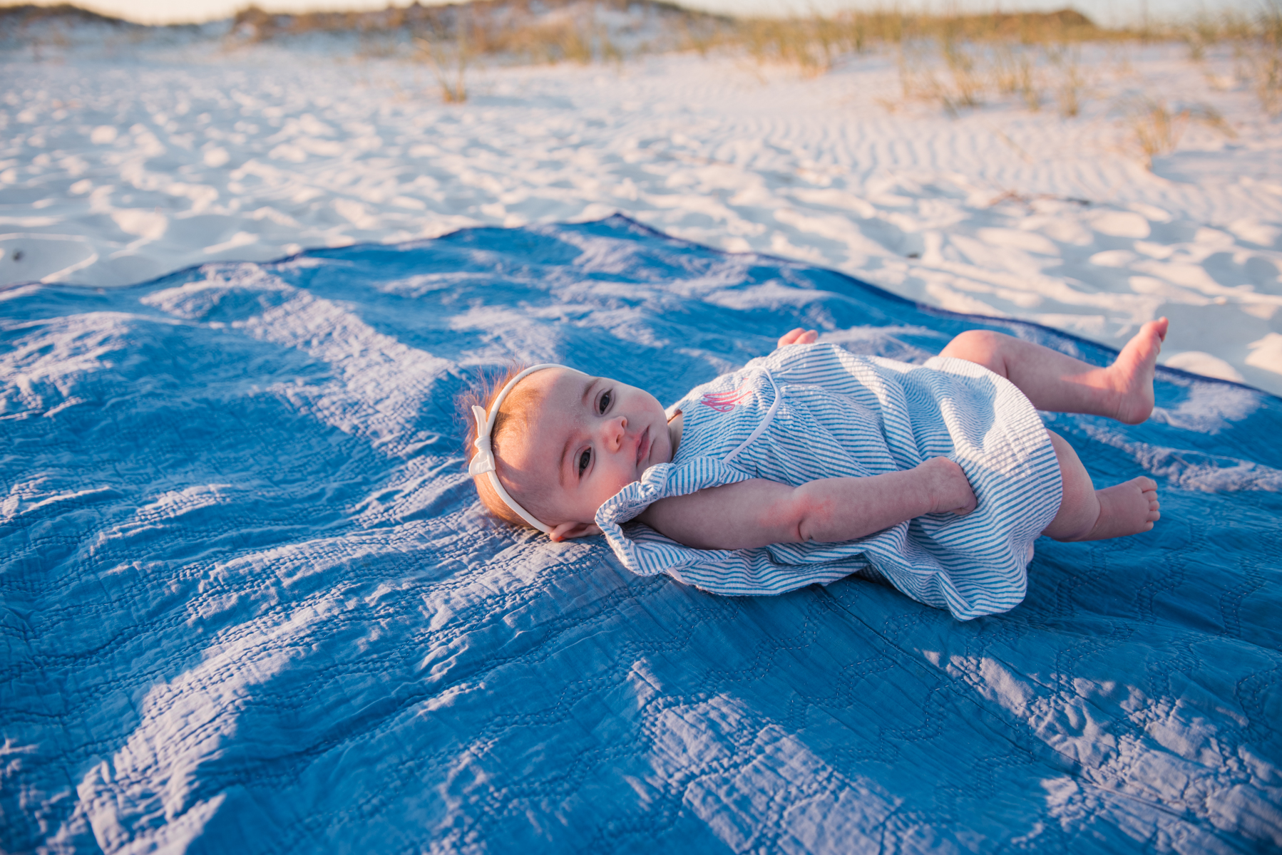 baby at beach-pensacola family photographer