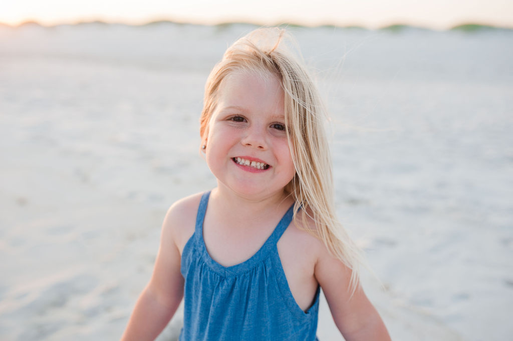 little girl at beach-Navarre Beach Photographer