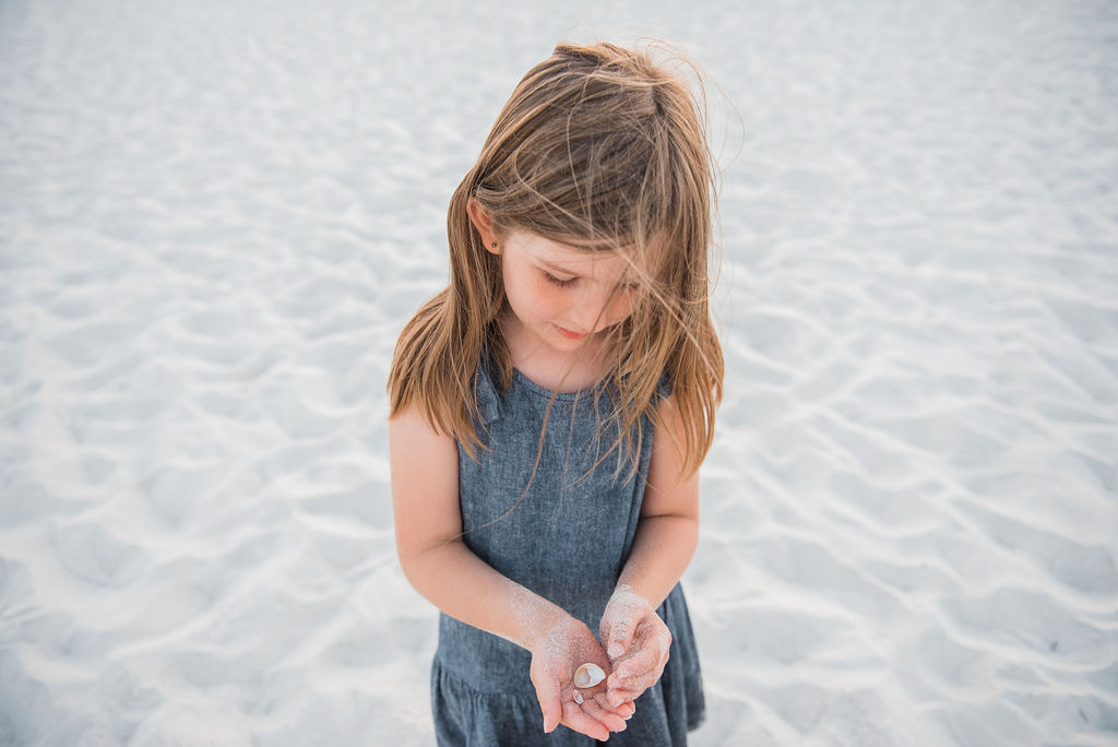girl with shells-Navarre Photographer