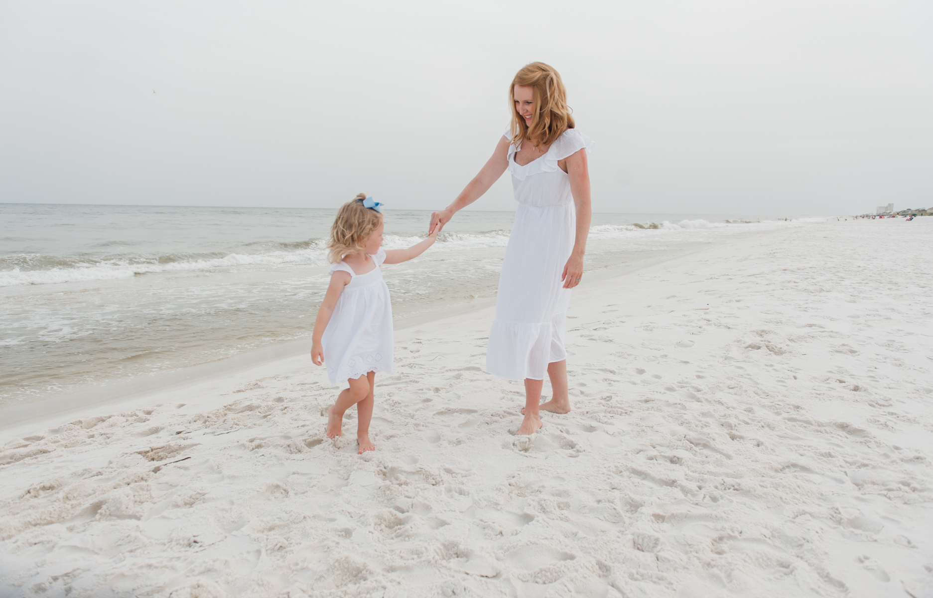mom with daughter-pensacola beach family photographer