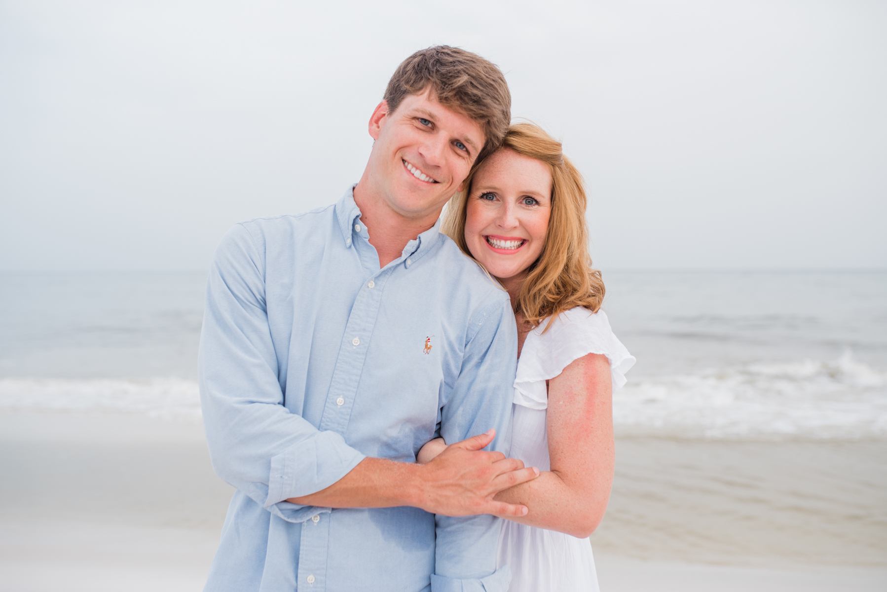 mom and dad at beach-pensacola beach photographer