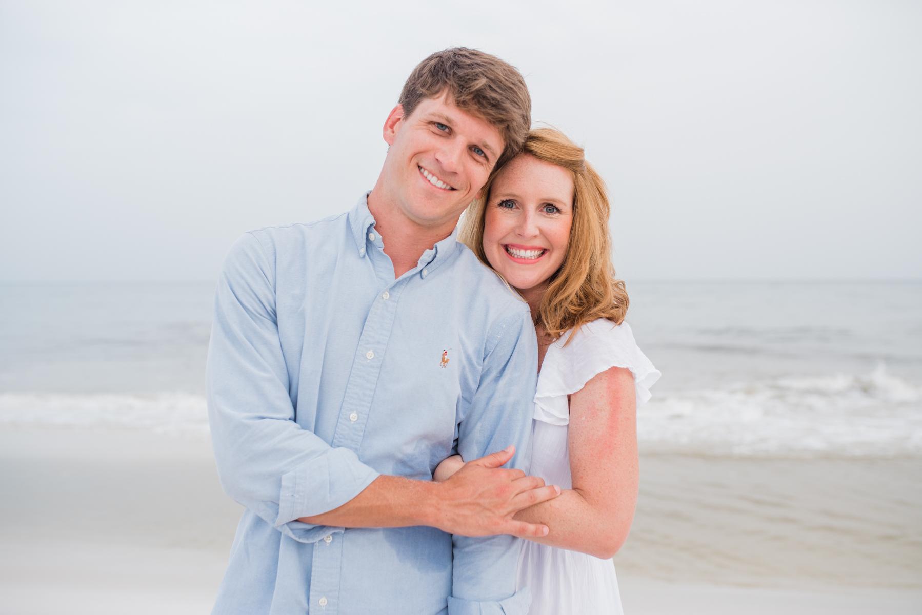 mom and dad at beach-pensacola beach photographer