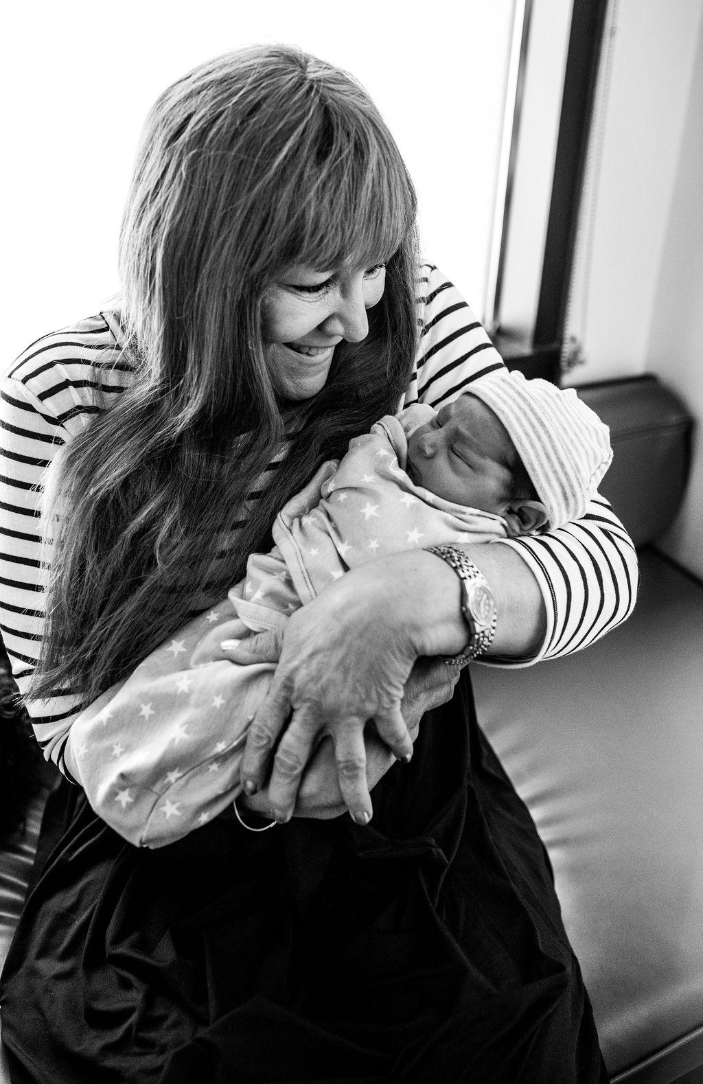 grandma with newborn-pensacola newborn photographer